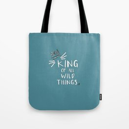King of All Wild Things - Max Blue Tote Bag