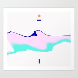 Mount Parallax Art Print