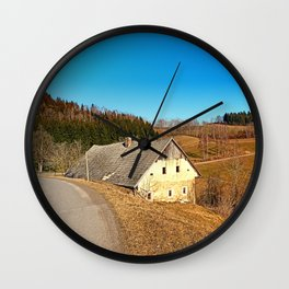 Traditional abandoned farmhouse   architectural photography Wall Clock