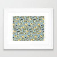 pasta Framed Art Prints featuring pasta  by Jen Gottlieb