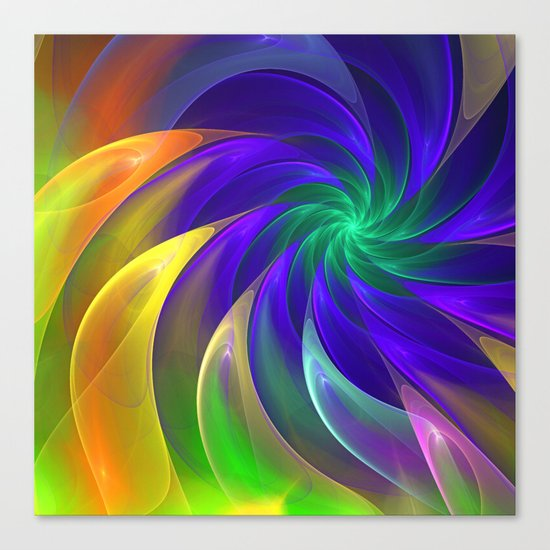 Abstract Color Swing Canvas Print