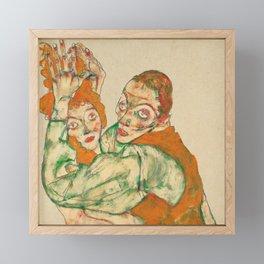 """Egon Schiele """"Lovemaking"""" Framed Mini Art Print"""