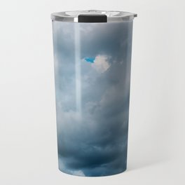 Rain Storm Clouds Gathering On Sky, Stormy Sky, Infinity Travel Mug