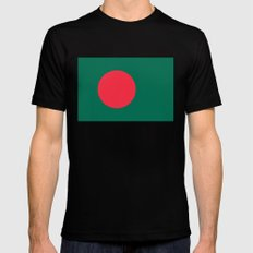 Flag of Bangladesh, High quality authentic HD version Mens Fitted Tee MEDIUM Black