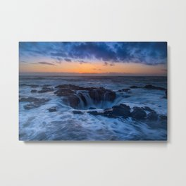 Thor's Well at Sunset Metal Print