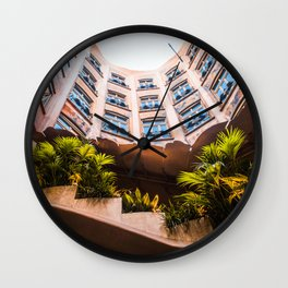 Skylight Garden | Casa Mila (La Pedrera) Barcelona Spain Travel Gaudi Architecture Photography Wall Clock