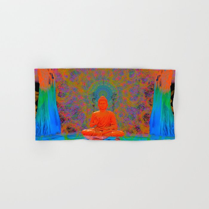 Cool Water Zen (Ultraviolet) (psychedelic, meditation) Hand & Bath Towel