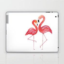 Flamingo Love Watercolor Painting Laptop & iPad Skin