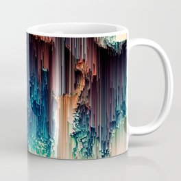 Cave of Wonders - Abstract Glitch Pixel Art Coffee Mug