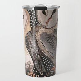 Barn Owl Pair Travel Mug