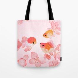 Cherry blossom goldfish Tote Bag