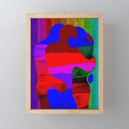 Rainbow kiss Framed Mini Art Print
