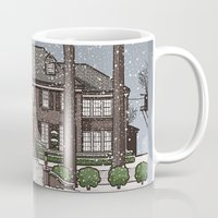 home alone Mugs featuring Home Alone Christmas by M. Gulin