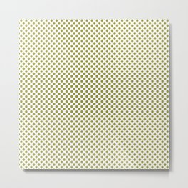 Golden Lime Polka Dots Metal Print