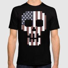 American Skull 2 Mens Fitted Tee Black MEDIUM