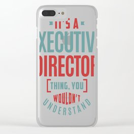Executive-Director Clear iPhone Case