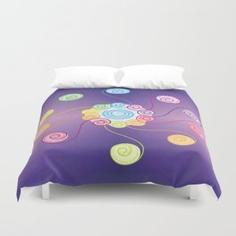 blue spiral Duvet Cover