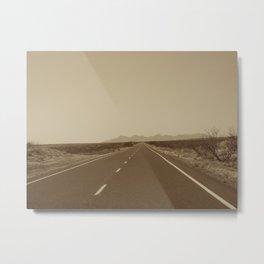 the road to Marfa Metal Print