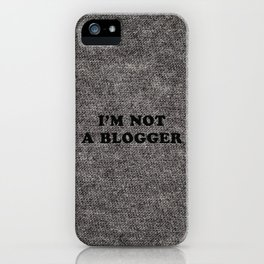 Blogger iPhone Case