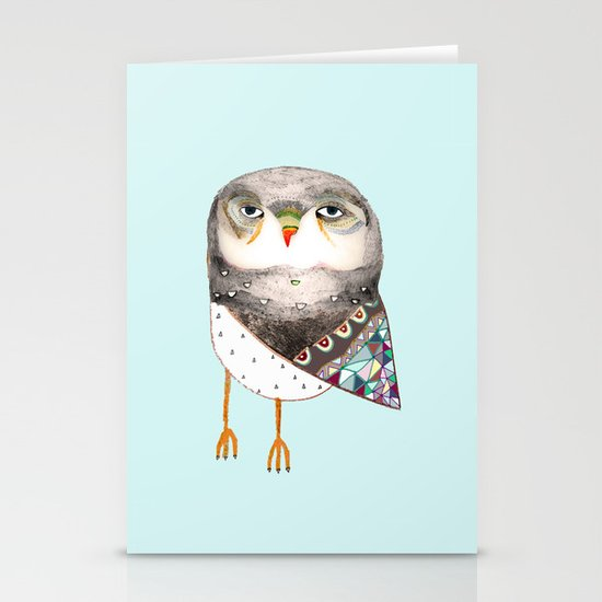 Owl by Ashley Percival Stationery Cards