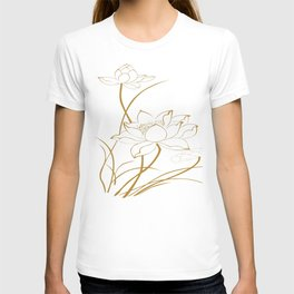Lotus line drawings T-shirt