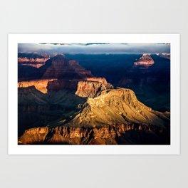 Mather Point at Sunrise. Grand Canyon. Arizona USA Art Print