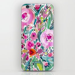 Pink Pow Wow Abstract Painterly Floral iPhone Skin