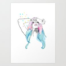 Oh yeah, reality bites Art Print