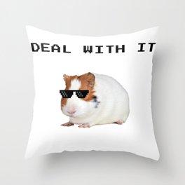 Funny Guinea Pig Meme Throw Pillow