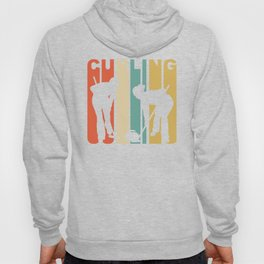 Retro 1970's Style Curlers Silhouette Curling Hoody