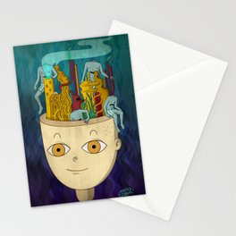 Mundo de cabeza Stationery Cards