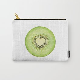 Kiwi illustration, green fruit Carry-All Pouch