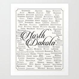 North Dakota Art Print