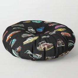 Car Cluster Floor Pillow