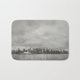 Vancouver Raincity Series - Raincity i - Moody Downtown Vancouver Cityscape Bath Mat