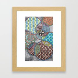 Colorful Overlapping Circles Framed Art Print