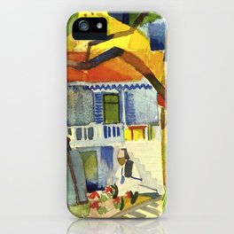 """August Macke """"Courtyard of the country house in St. Germain"""" iPhone Case"""