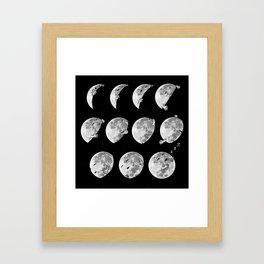 lunar phases of sleep Framed Art Print