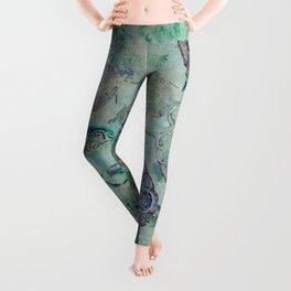 Watery Whimsy Leggings