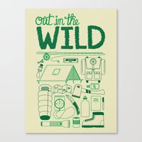 Out In The Wild Canvas Print