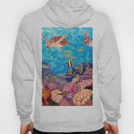 Zach's Seascape - Sea turtles Hoody