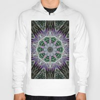 stained glass Hoodies featuring Stained Glass  by IowaShots