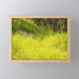 Mustard Plant Super Blooms Framed Mini Art Print