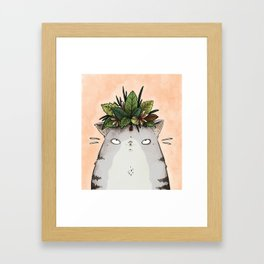 Cat in a Crown Framed Art Print