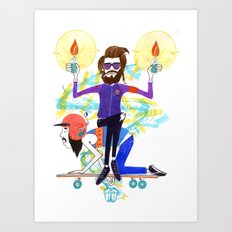 I'm Here to Party Art Print