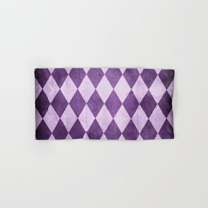 Grape Harlequin Grunge Hand & Bath Towel