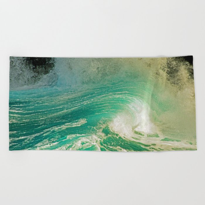 WAVE JOY Beach Towel