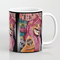 simba Mugs featuring Captain Simba Sparrow of Pride Rock by Frances May K
