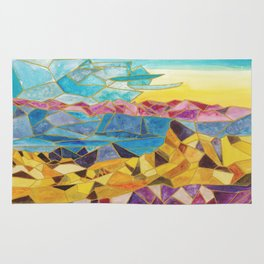 abstract geometric mountain range Rug