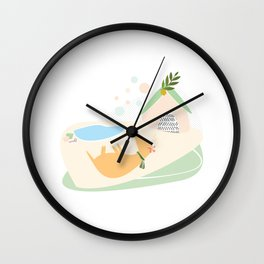 Game, Sleep and Lemon Wall Clock